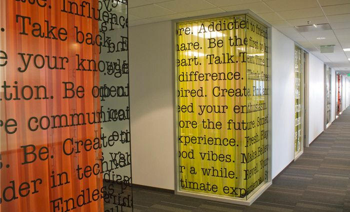 Window/wall graphics for Sony Ericsson designed by skydesign