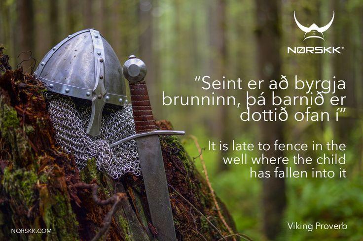 Viking Proverb of the Week. #VikingProverb