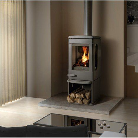 Poêle à bois NORFLAM BY DOVRE Sonata anthracite, 7 kW