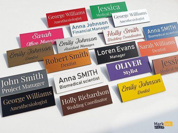 Personalised Premium Name Badges ID Badges /& Staff Badges Badges