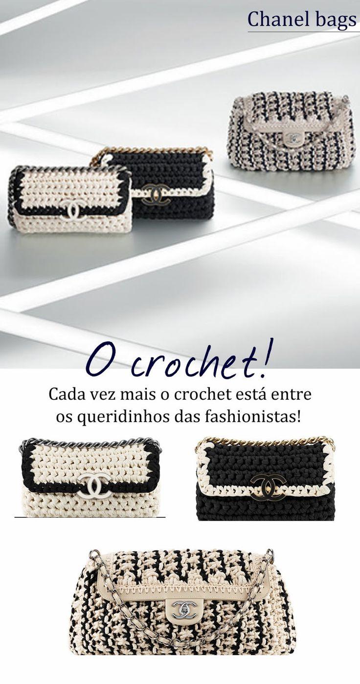 E as grifes internacionais continuam apostando no crochê para suas novas coleções, confira alguns modelos de bolsas 2014!