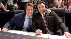 """JBL and Michael Cole announcing WWE Night of Champions: September 16, 2012 Filling in for Jerry """"the King"""" Lawler for tonight's Night of Champions pay-per-view (and likely Raw, too) on commentary will be John Bradshaw Layfield. He'll be reunited with his former partner on SmackDown, Michael Cole. Welcome back, JBL."""