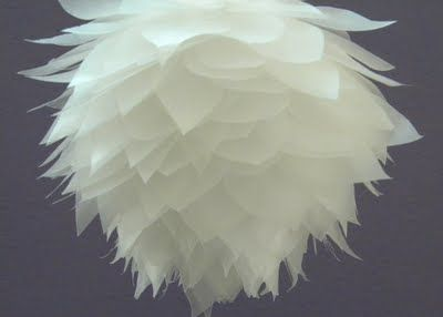 lotus blossom pomander ball...DIY..  from waxed paper
