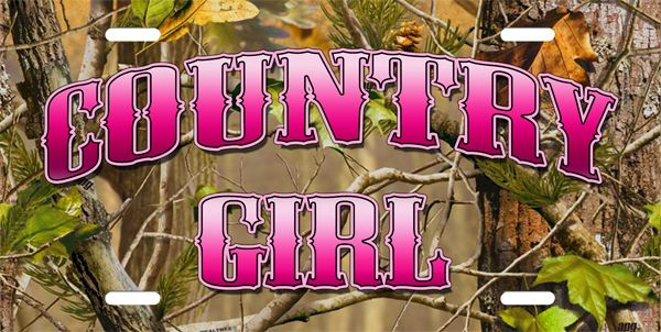 Mossy Oak Pink Camochevy Truck Camo On Camouflage License Plate License Plate Country Girl On