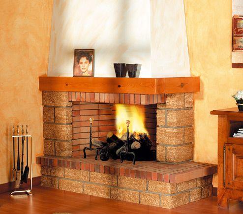 M s de 1000 ideas sobre chimeneas r sticas en pinterest for Hogares a lena rusticos