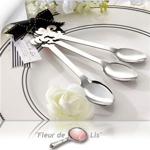 """Fleur de Lis"" Stainless-Steel Measuring Spoons Favors Gifts - 81% OFF - 13044NA - Cheap Wedding Favors - Cheap Bridal Shower Favors - Cheap Party Favors - http://www.warmimpressions.com/WEDDING_FAVORS/Fleur-de-Lis-Stainless-Steel-Measuring-Spoons-Favors-kate-aspen-13044NA.html   medium"