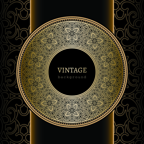ornate lace and vintage background vector graphics 05