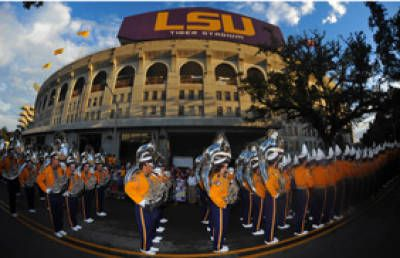 -- when the band marches down and that moment when I hear-- dun, dun unnn   LSU Sports' Schedules