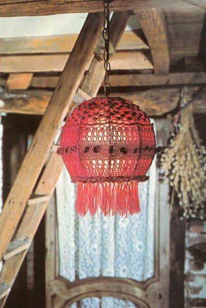 Абажур крючком - Для уюта в доме