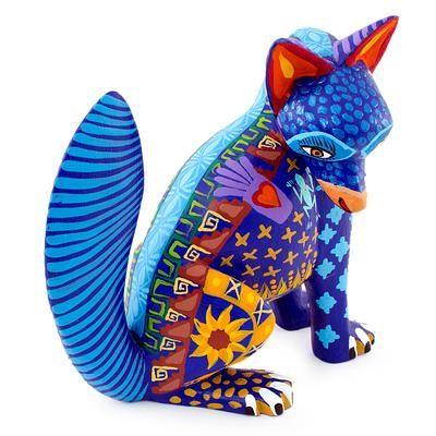 Алебрихе скульптуры, 'сапотек Койот' - Мексика алебрихе Дикая собака Скульптура Оахака Народное искусство (изображение 2b) мини-копии