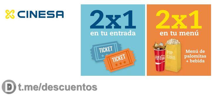 2X1 en entradas y menús hasta el 20 de julio en CINESA - http://ift.tt/2u1QdhF