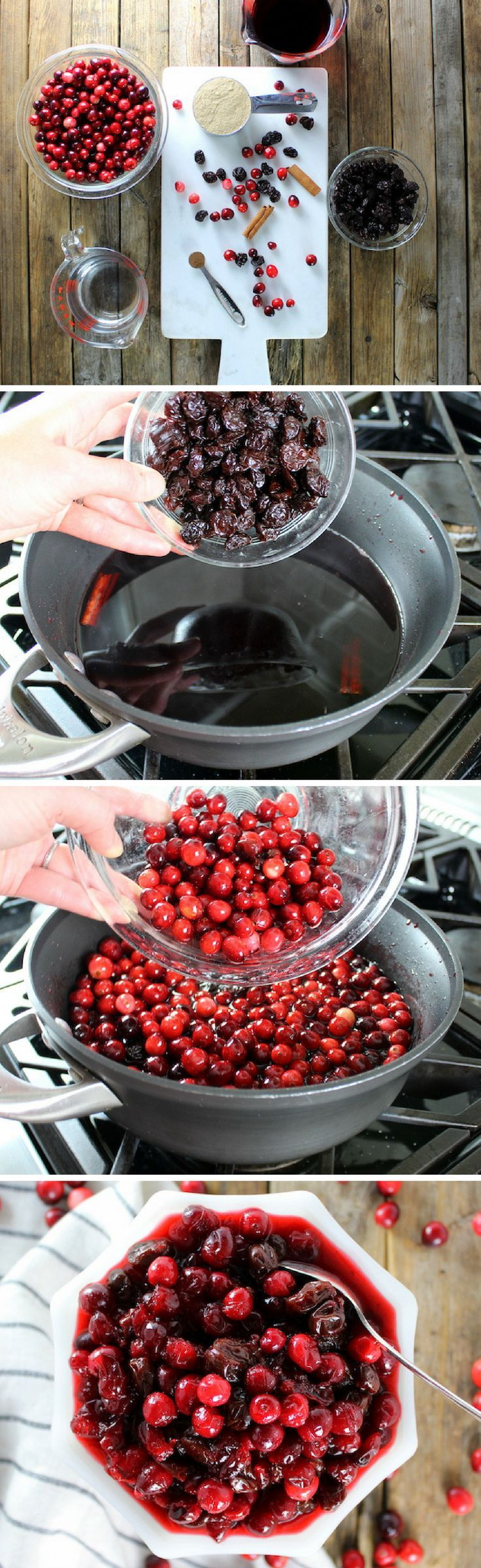 Perfect Cranberry and Dried Cherry Sauce recipe for Thanksgiving & Christmas!  http://tasteandsee.com