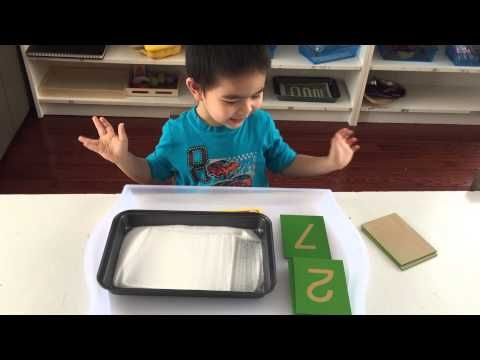 Montessori Sand Tray - Tips To Promote Writing Success - Planting Peas