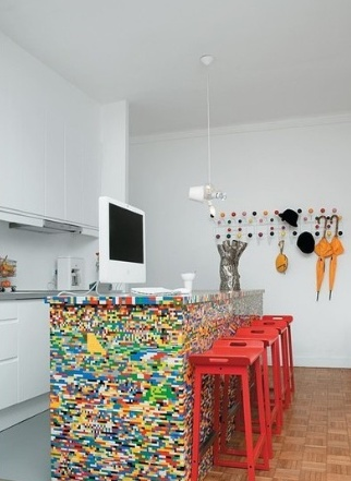 Beautiful Lego Table In The Kitchen Design Ideas
