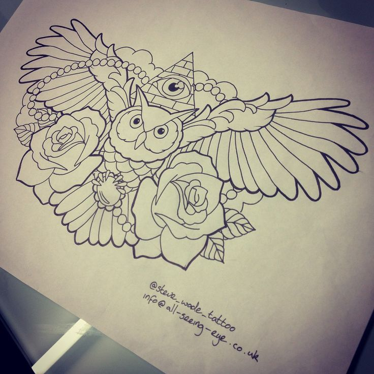 25+ Best Owl Chest Tattoo Sketches Images On Pinterest