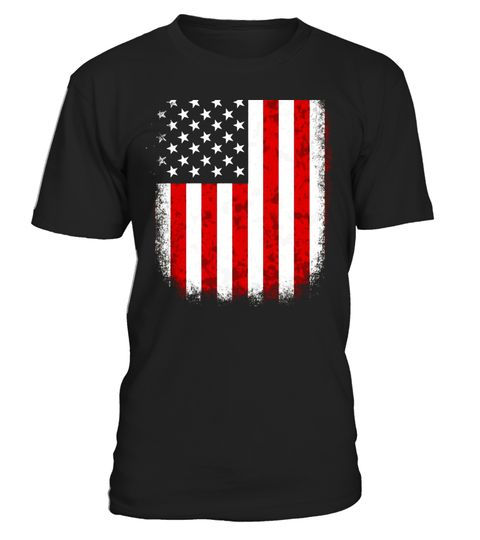 USA FLAG tshirt - US Flag BACK OF Shirt: Colorful flag shirt