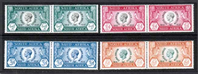 South Africa 1935 King George V Silver Jubilee Set Fine Mint SG 65 68 Scott 68 71  Other South African Stamps HERE