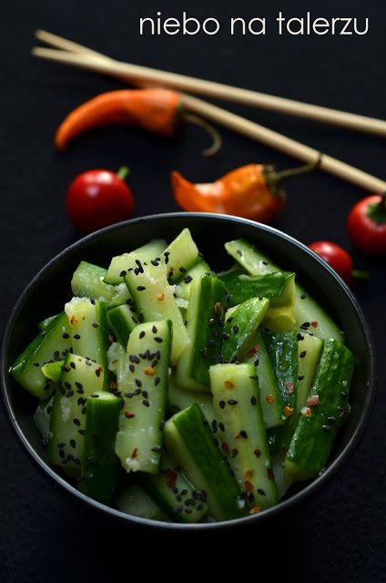 niebo na talerzu: Ogórki po chińsku. Sałatka z ogórka do obiadu