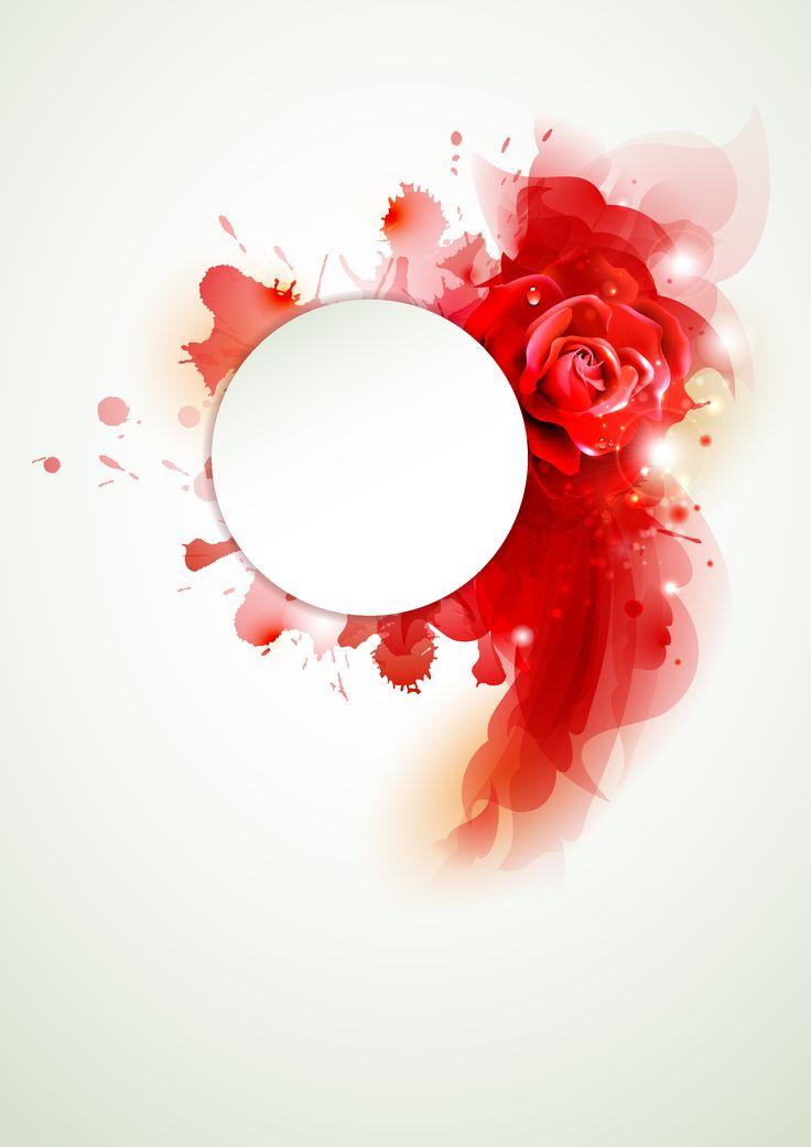 Red flower - background