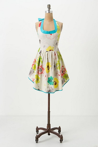 Lookin' good while cooking in this 'Simmering Poppies' Apron