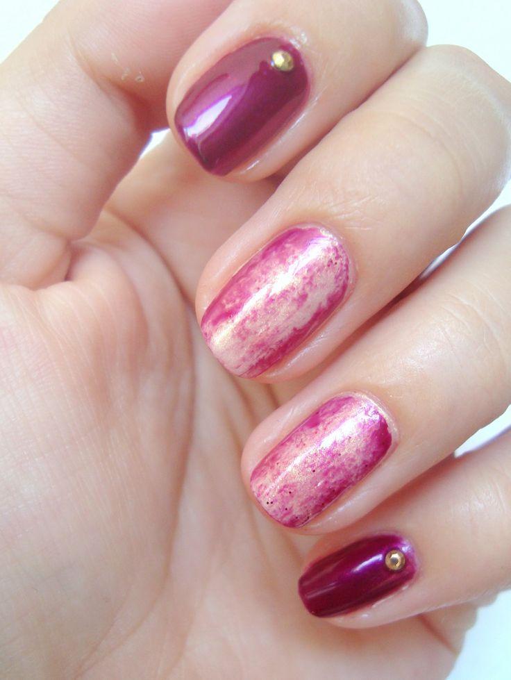 Pomysł na proste zdobienie: zabawa folią | Idea for manicure: taken usin...