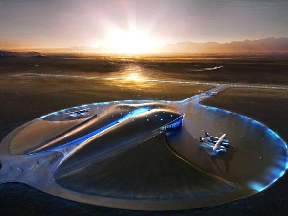 Spaceport America, construído no estado do Novo México (EUA)