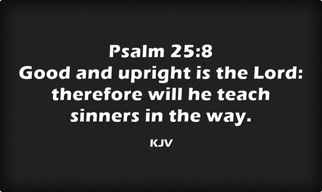 Psalm 25:8 King James KJV
