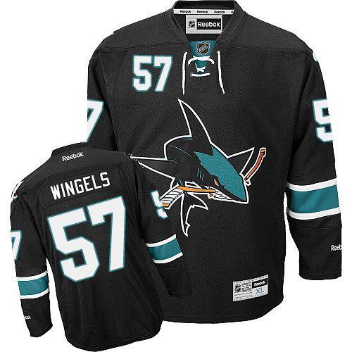 Men's San Jose Sharks #57 Tommy Wingels Black Third Jersey