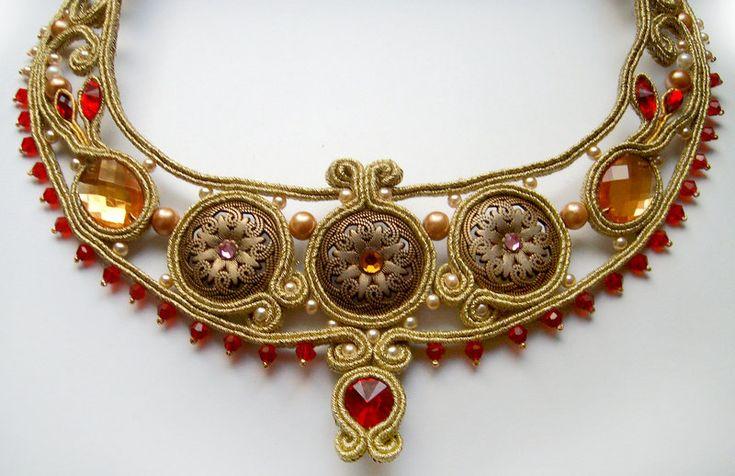 Roman dream soutache necklace lll by FdFCrafts