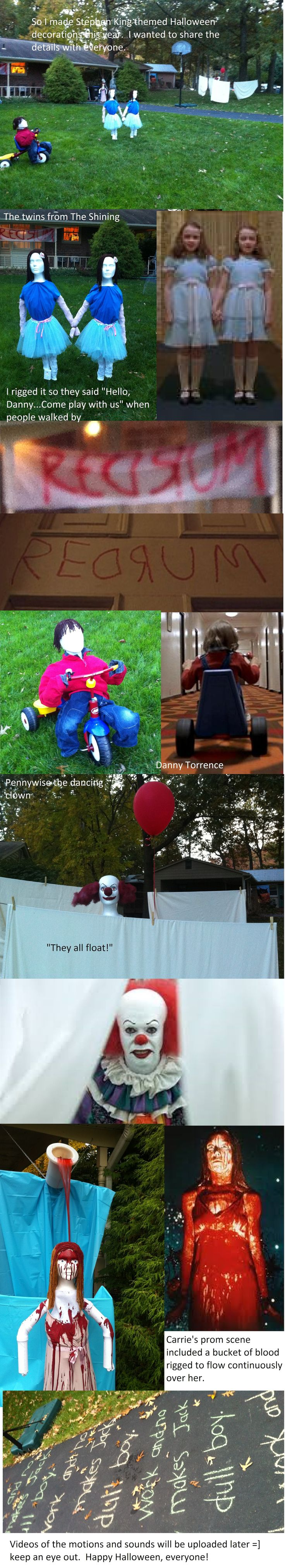 My Stephen King themed Halloween display