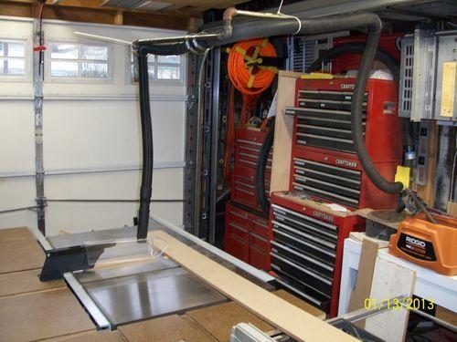 Build a table saw boom arm dust collector? - by newbirdhunter @ LumberJocks.com ~ woodworking community
