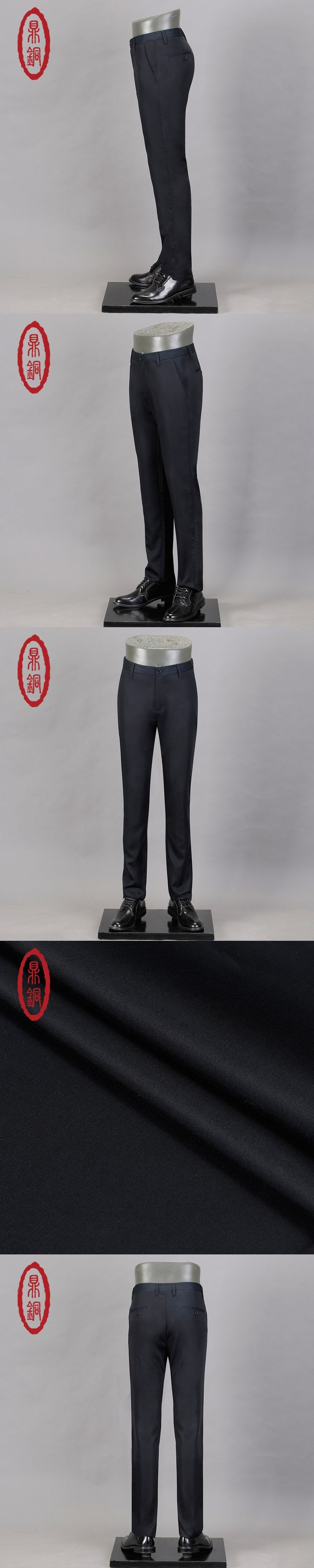 DINGTONG Men's Comfort Lyocell Casual Pant Lightweight Straight Zip Front Straight Fit Trousers Cool Summer Thin Pant Top Brand