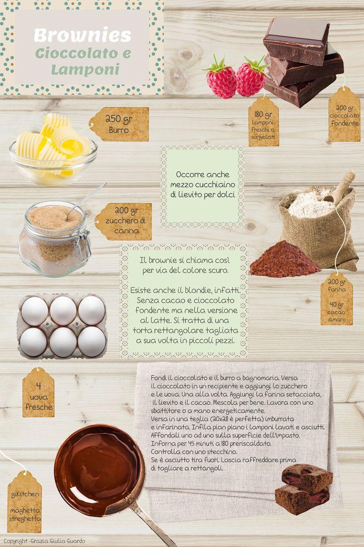 Brownies al cioccolato con lamponi – Le Ricette formato Scheda – Gikitchen: in…