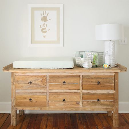 Gender Neutral White Nursery With Wood Accents Rustic Modern Can Be Used After Baby In