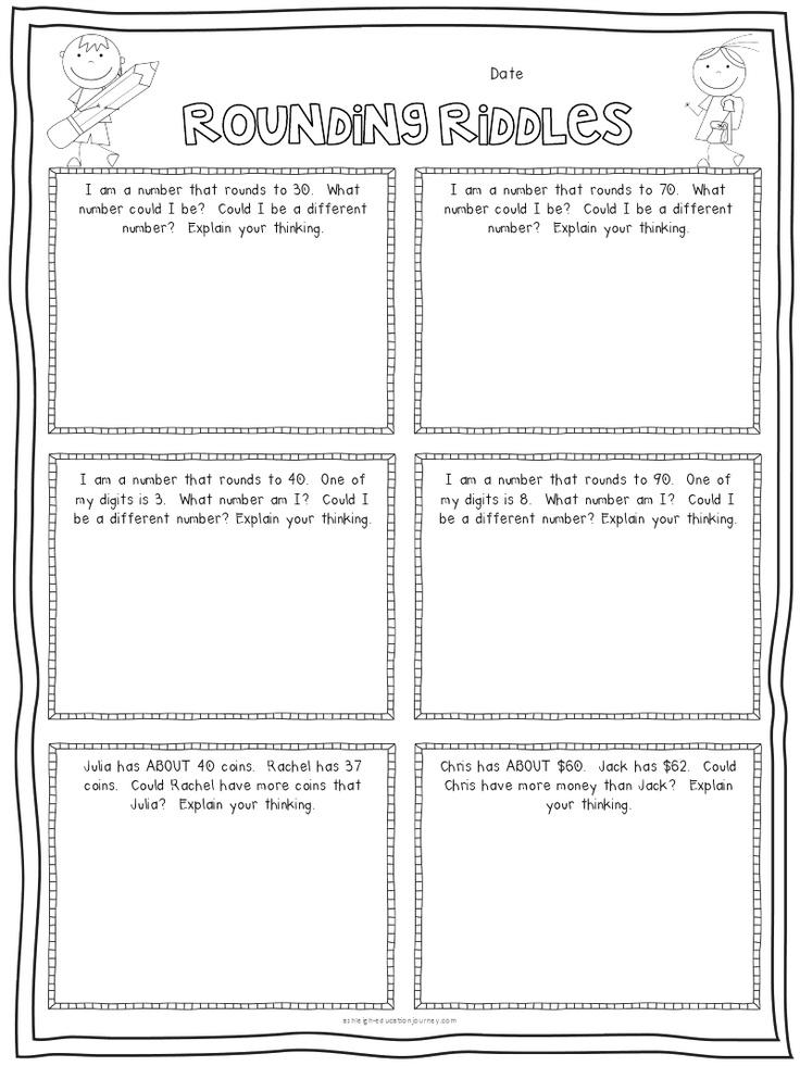 rounding riddles.pdf Google Drive Third grade math