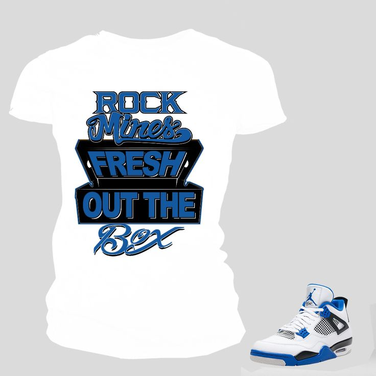 FRESH OUT THE BOX Women Tee to match Jordan 4 Motorsport