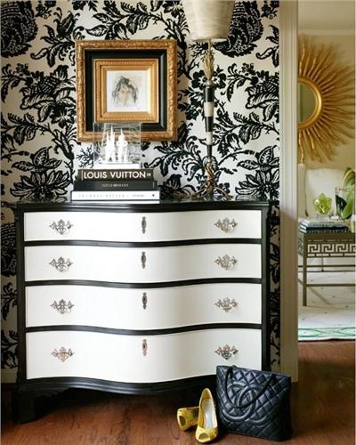 Dramatic Contemporary Bedroom by Tobi Fairley
