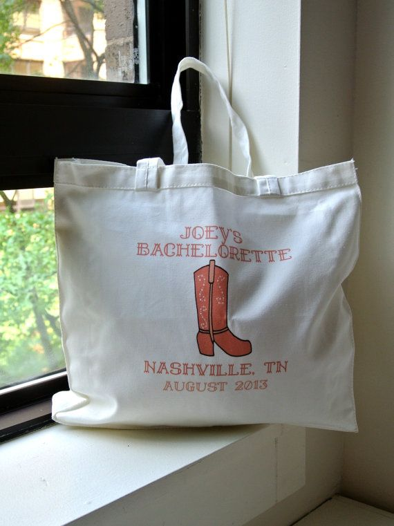 Country Western Bachelorette Party Totes by yourethatgirldesigns, $70.00