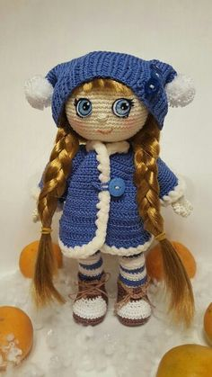 Кукла Снежная фея крючком