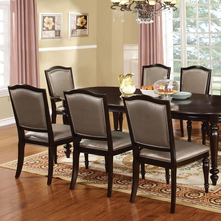 Overstock Dining Set: Furniture Of America Harllington Dark Walnut 9-Piece