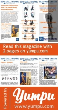 By by Cellulite, http://www.vibrafit-training.at/   vibration training, power training, wassereinlagerungen, oedeme, orangenhaut, verspannungen, lymphdrainage, vibrations training - Magazine with 2 pages: By by Cellulite, http://www.vibrafit-training.at/   vibration training, power training, wassereinlagerungen, oedeme, orangenhaut, verspannungen, lymphdrainage, vibrations training Magazin mit 2 Seiten von Beauwelldreams
