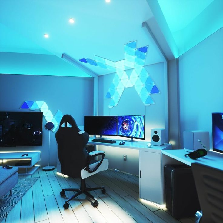 Gamer Setup, Gaming Room Setup, Pc Setup, Cool Gaming Setups, Gaming Chair, Gamer Bedroom, Bedroom Setup, Computer Gaming Room, Computer Setup