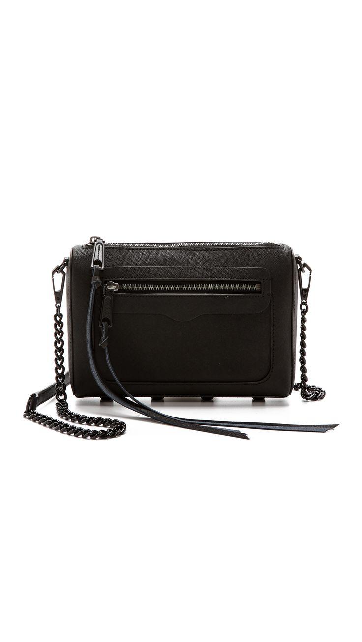 Rebecca Minkoff Avery Cross Body Bag - Black | SHOPBOP.COM saved by #ShoppingIS