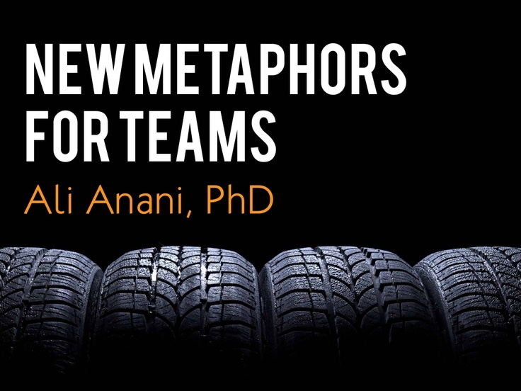 new-metaphors-for-teams by Ali Anani via Slideshare