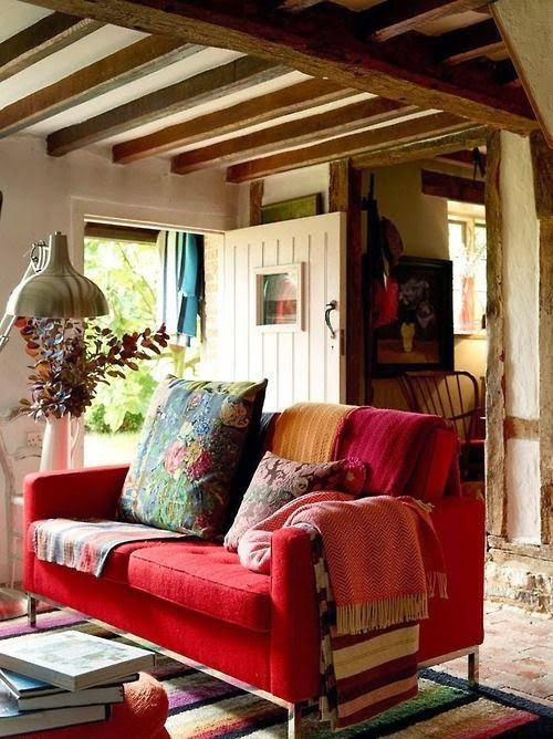 Sort of 'bohemian'  in a toned-down way.....but also quite suitable for a 'country' style....lovely...