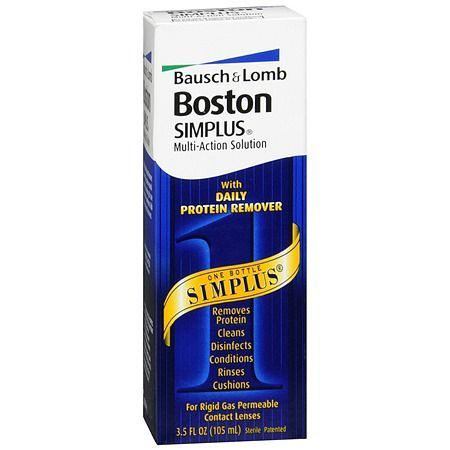Boston Simplus Multi-Action Solution for Rigid Gas Permeable Contact Lenses - 3.5 oz.