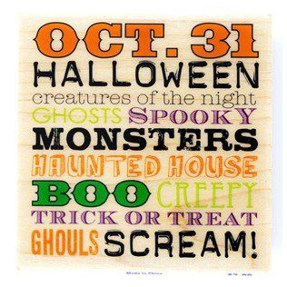 Halloween Subway Art Rubber Stamp -- Check out this great product.