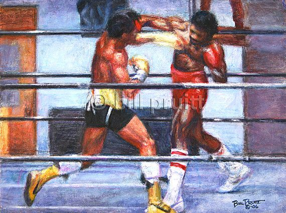 Sylvester Stallone Rocky Balboa Apollo Creed art print 12x16 signed and dated Bill Pruitt on Etsy, $15.00