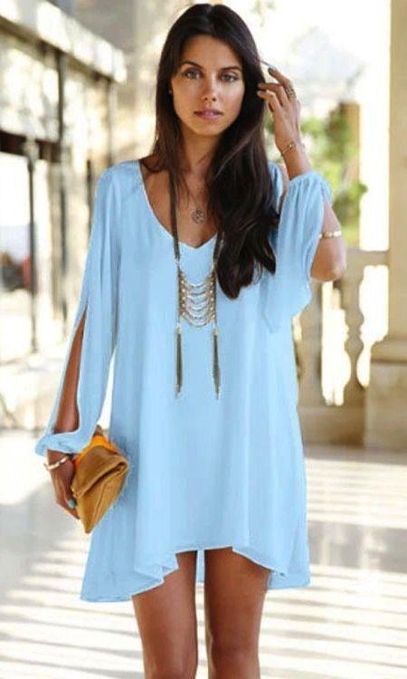 17 best ideas about Light Blue Shirts on Pinterest | Blue blouse ...