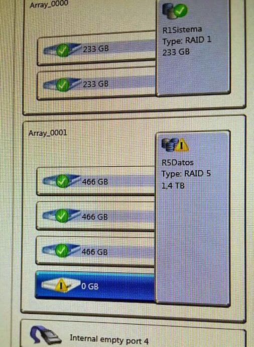 Bon dilluns. Comencem la setmana, canviant un disc dur avariat en un servidor amb Raid5. #serveitecnic #mantenimentservidors #mantenimentinformatic